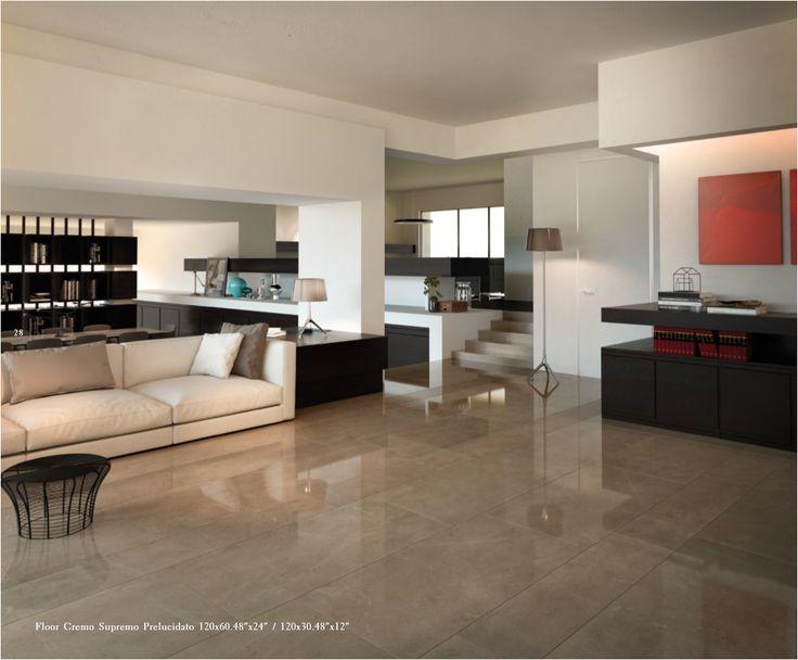 """Floor Cremo Supremo Prelucidato 120x60.48""""x24""""/120x30.48""""x12"""