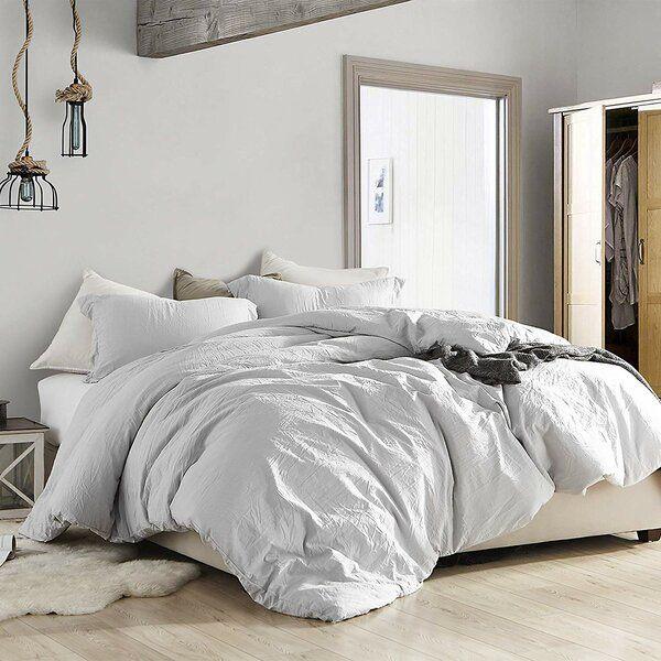 Wendling Duvet Cover Set In 2020 Grey Comforter Grey Comforter Bedroom White Comforter