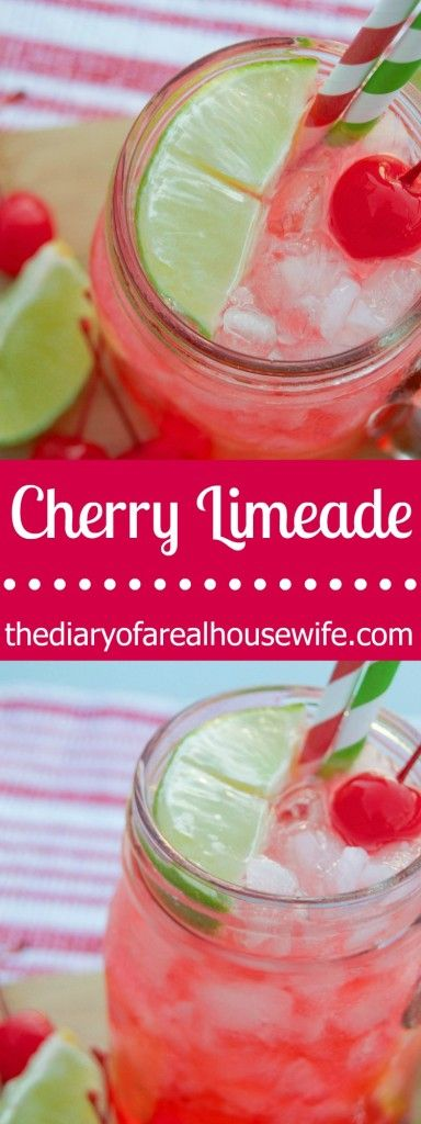 Easy Cherry Limeade recipe that you will love. Since My sonic closed I had to learn how to make one and I love it homemade.