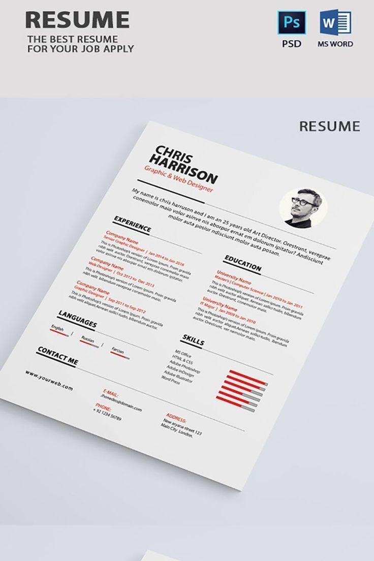 Professional Graphic Designer Resume Infographics en 2020