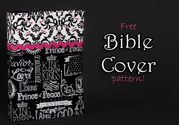 DIY Bible Cover  Free Pattern!   Customize for different sizes of books.  With inside sleeves to hold the book in place and a velcro tab closure!