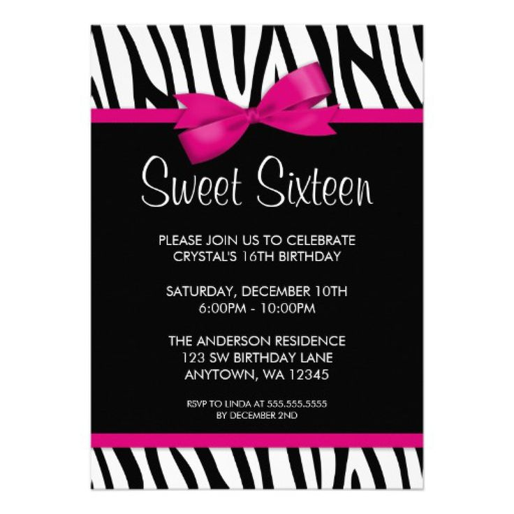 28 best Sweet 16 invitation template images on Pinterest