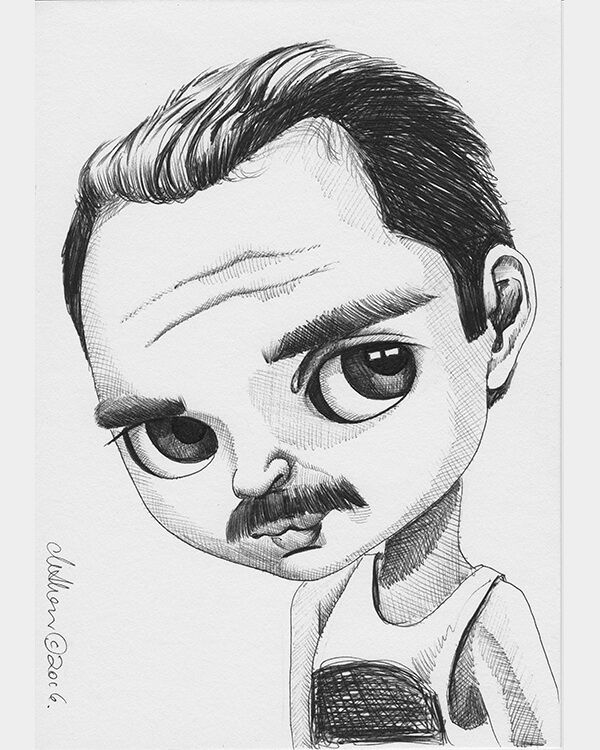 Freddy Mercury — Fox and Doll Baby | coloring pages in 2019 ...