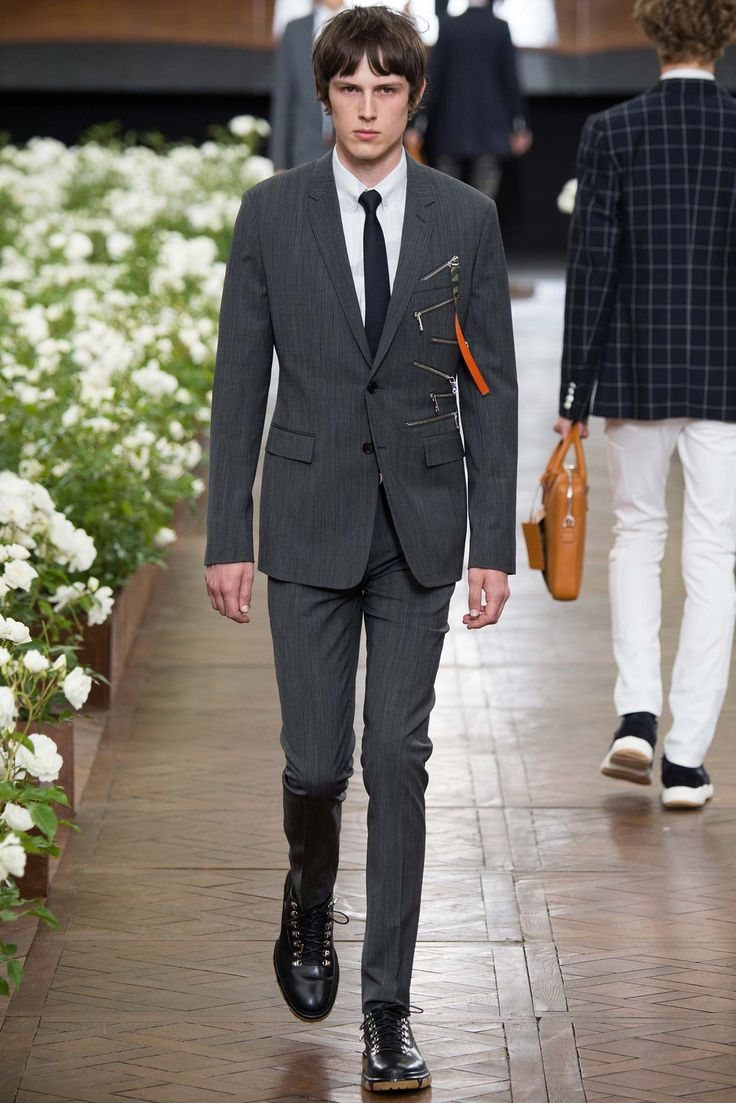 Dior Homme stuns with a cohesive color palate and impeccable craftsmanship. #ParisFashionWeek #SS16