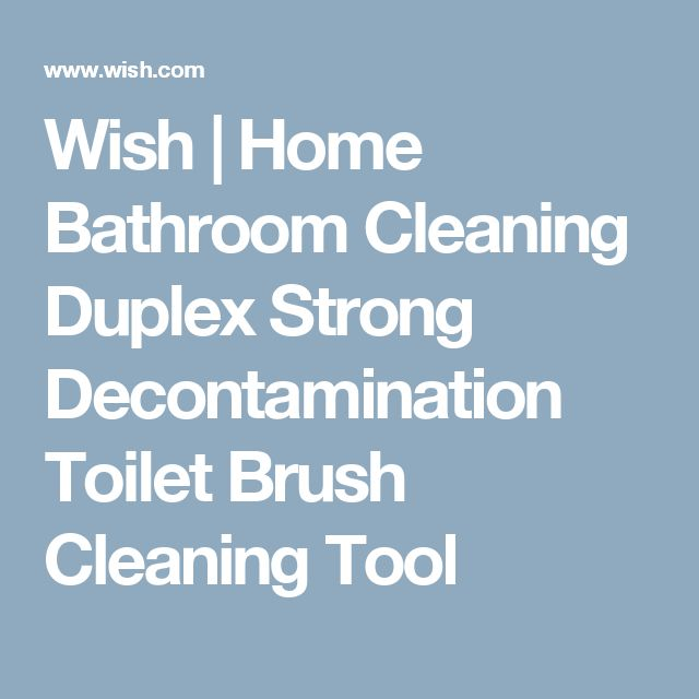 Wish | Home Bathroom Cleaning Duplex Strong Decontamination Toilet Brush Cleaning Tool