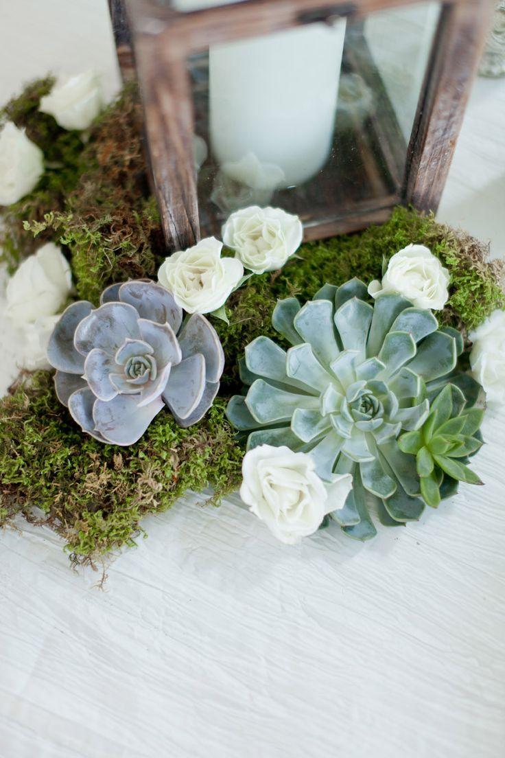 Modern succulent table centerpiece Succulent wedding