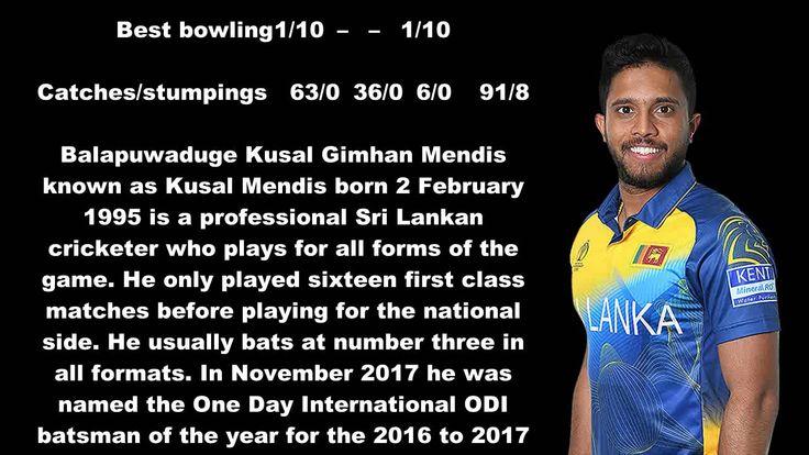 Sri Lankan Cricketer (Kusal Mendis) Biography Detail