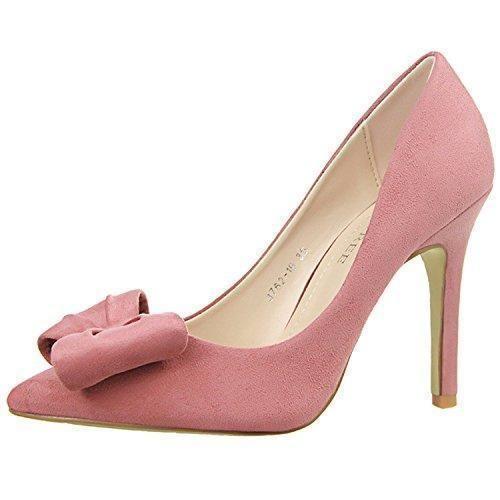 Oferta: 21.99€ Dto: -15%. Comprar Ofertas de Oasap Mujer Zapatos Tacón Alto Estilete Gamuza Sintética Adorno Pajarita barato. ¡Mira las ofertas!