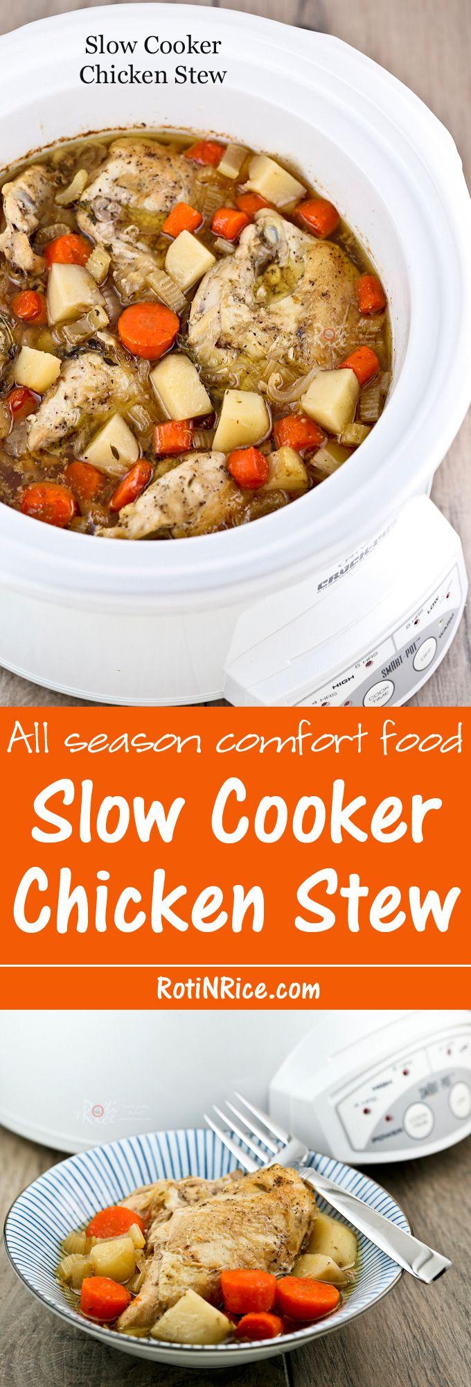 Slow Cooker Chicken Stew | Recipe | Slow Cooker Chicken Stew, Slow ...