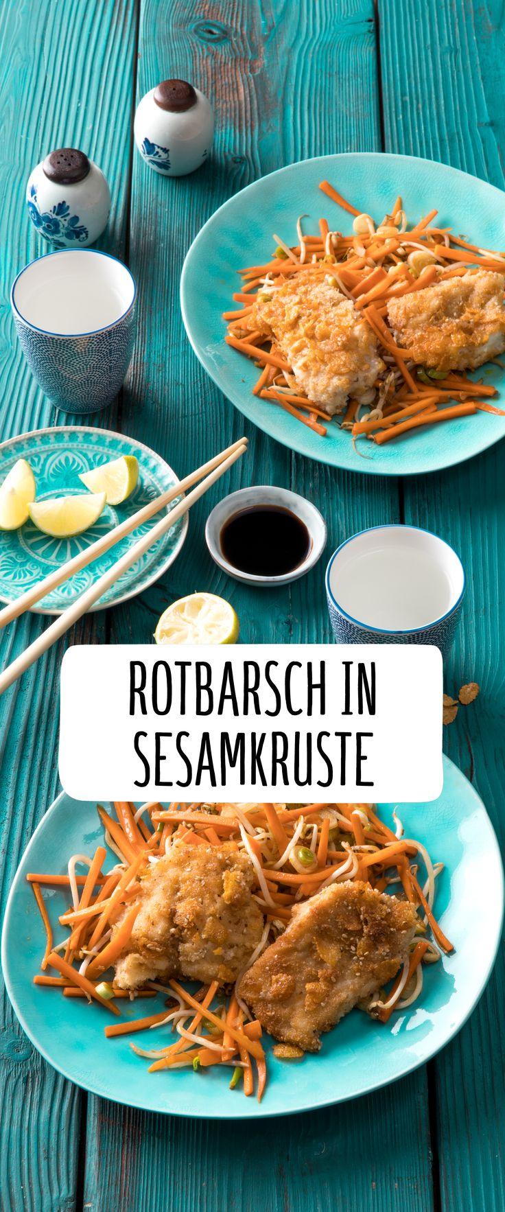 Rotbsrsch in Sesamkruste