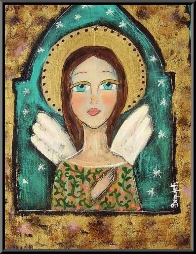 Angel: Angels Mor, Angeles Angels, Angel Folk Art, Angels Heavens, Folkart Angel, Angel Art, Blue Angel, Angel Heavens, Art Artists