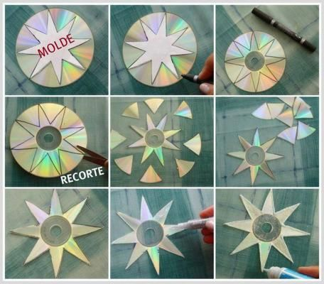 Creative ideas from recycle, reused cd's. To repel birds from gardens, under porches and hanging pots.