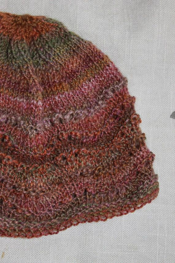 child's hat, hand knitted, hand spun hat, organic, wool hat. 18mo