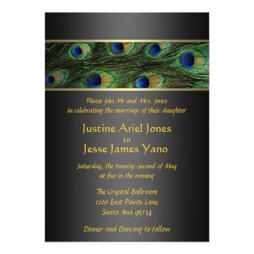 94 Best Peacock Wedding Invitations Images On Pinterest