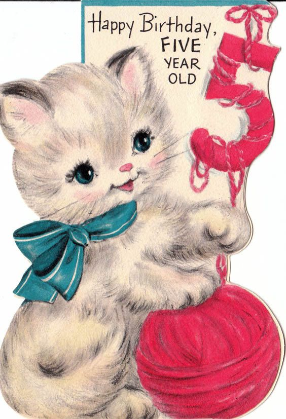 3693 Best Vintage Cards Images On Pinterest Happy Birth Happy Birthday Wishes 5 Year Boy