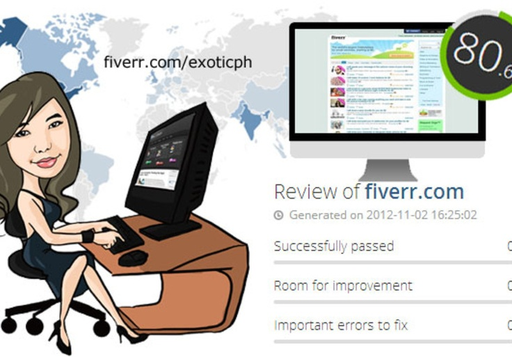 Quality website review and analysis report for 5 on fiverr com