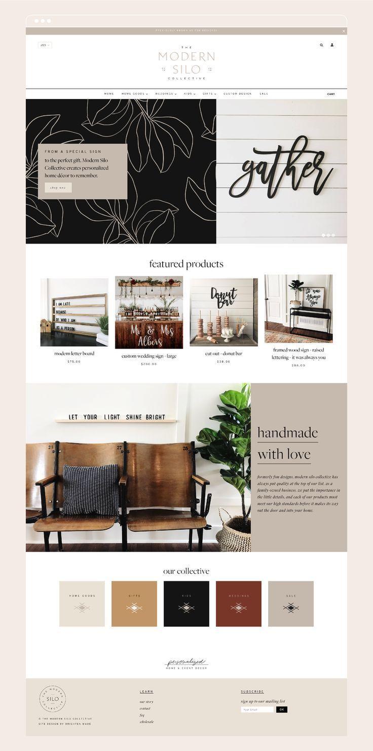 Minimal Modern Home Decor Shopify Website Design By Brighten Made Neutral Colors Simple Aztec D In 2020 Shopify Website Design Shopify Design Modern Website Design