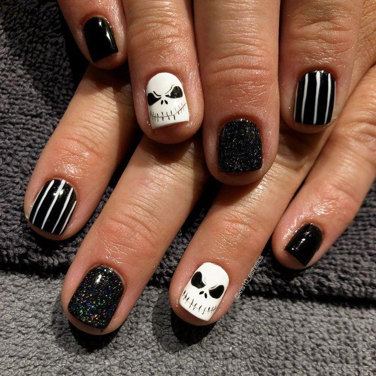 Es ist Oktober, ich kann endlich diese bösen Jungs posten !! 🎃💀👻 #nails #nail #ha …   – Nail Ideas