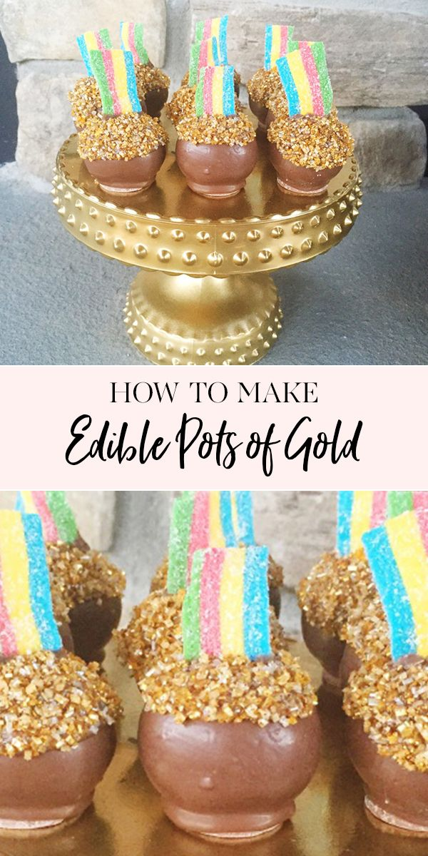 How To Make Edible Pots Of Gold Edible Gold Gold Dessert Jenny Cookies