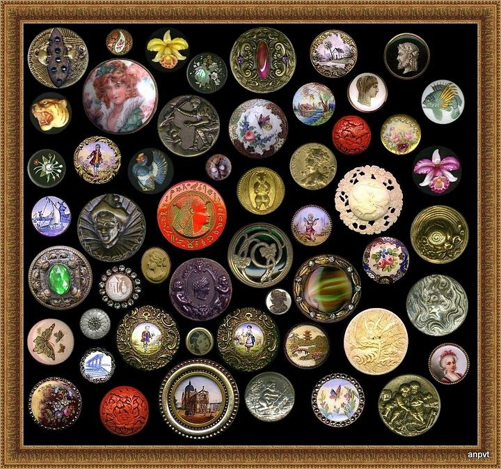 ButtonArtMuseum.com - Antique Buttons, Assorted Materials. Enamel, Glass, Brass, Porcelain,  Hand Painted, Satsuma, Horn and Ivory.: Buttons Who, Buttons Vintage, Vintage Buttons, Crafts Ideas, Buttons Buttons, Buttons Art, Antique Buttons, Antiques Buttons, Antiquevintag Buttons