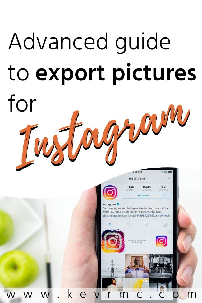 How to export for instagram