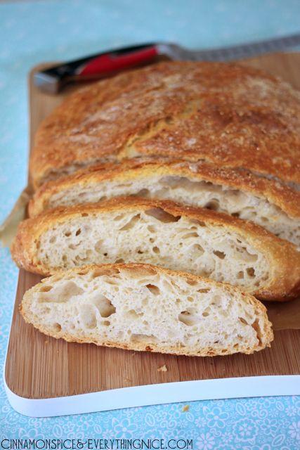 No-Knead White Cheddar Bread