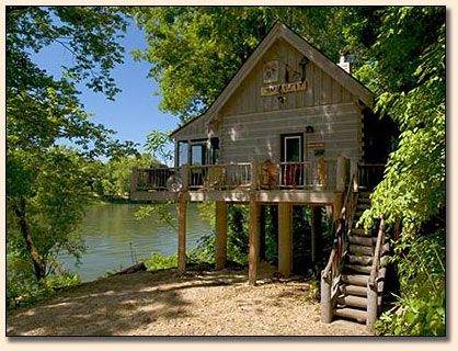 The Outside Of The Cabin.it Overlooks The White River!