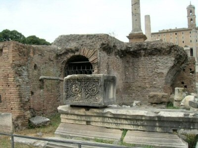 Rostrum of Caesar... once an ornate platform for public speeches