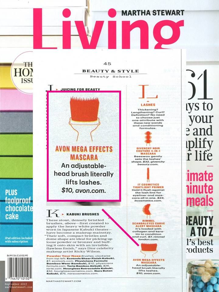 Check out #MegaEffects Mascara in the September issue of Martha Stewart Living!
