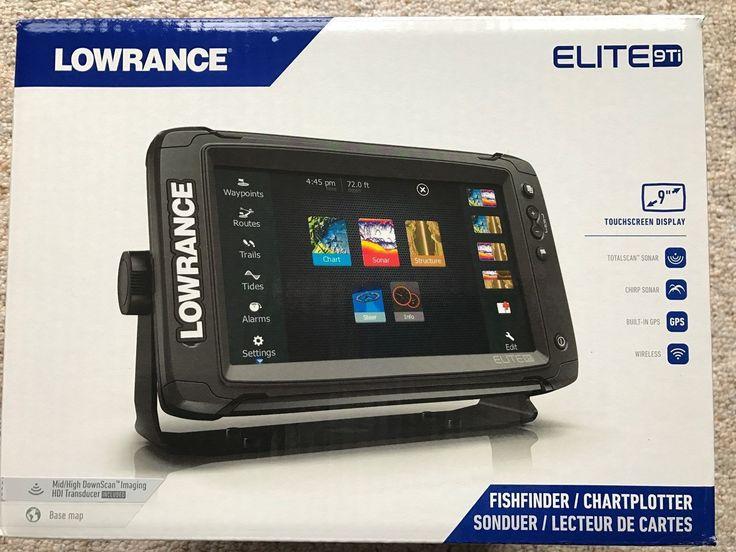 Fishfinders 29723 new in box lowrance elite9 ti fish