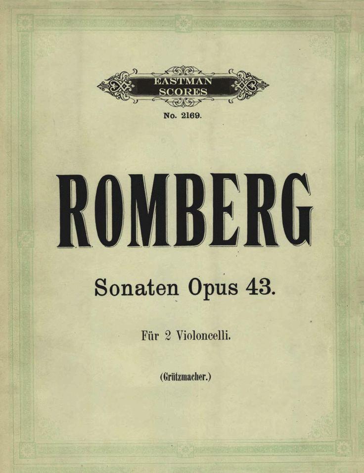 Romberg, Bernhard : Sonaten für zwei Violoncelli, Opus 43