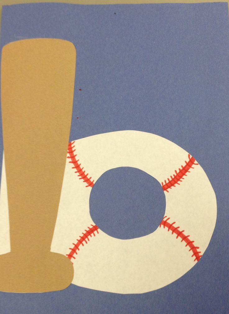 B for baseball craft Preschool letter crafts Pinterest