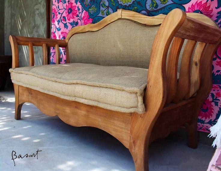 Sillon Camastro Hindu Sillon Madera Lenga Tapizado Arpillera - $ 8.450,00 en Mercado Libre