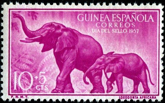sello Guinea Española, 1957