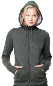 Image of Yoga Clothing For You Ladies Performance Full-Zip Hoodie, Large Dark Heather Grey