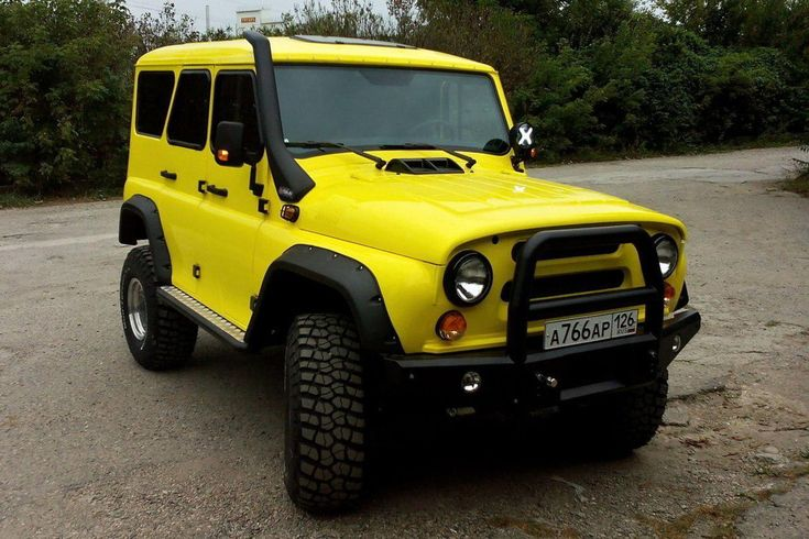 Yellow UAZ HUNTER from Russia with love with snorkel GKA #4x4 #offroad #Grime #dubstep