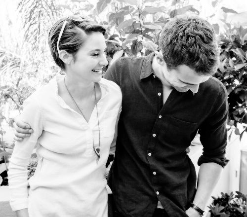 """We know each other quite well now, and it's a very easy relationship. We had some tough moments during filming, and we made sure we were there for each other. I have a lot of fun with Shai too. We recently did a photo shoot in Europe and, afterward, we went to a dinner, hiked around town and got lost. We were stuck in some random Italian village and couldn't get home!"" ~Divergent~ ~Insurgent~ ~Allegiant~"
