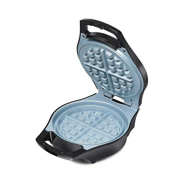 Hamilton Beach Ceramic Mess-Free Belgian Waffle Maker ($30) ❤ liked on Polyvore featuring home, kitchen & dining, small appliances, silver, hamilton beach waffle baker, hamilton beach waffle maker, hamilton beach waffle iron, hamilton beach electric grill and belgian waffle maker
