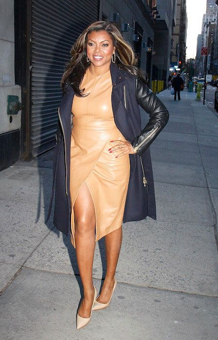 Taraji P. Henson arrives at 'The Wendy Williams Show' in January 2015...