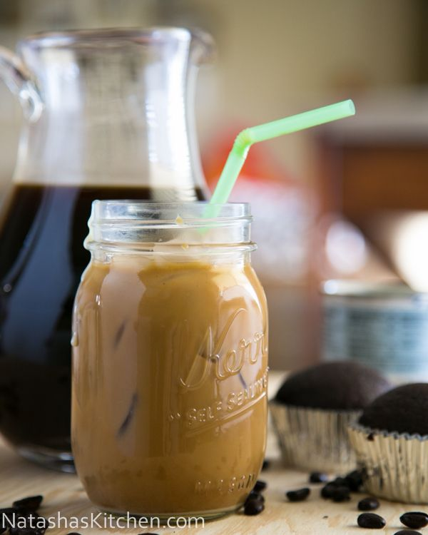 Iced Coffee with Condensed Milk Recipe ~ I Love that this lasts 3 weeks in the fridge and it makes a gallon so I can make this over the weekend and then indulge whenever I want.