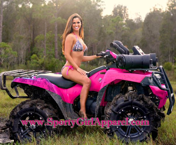 """this cracks me up.when a man sees this ad """"wow she is so sexy we should buy a four wheeler'"""