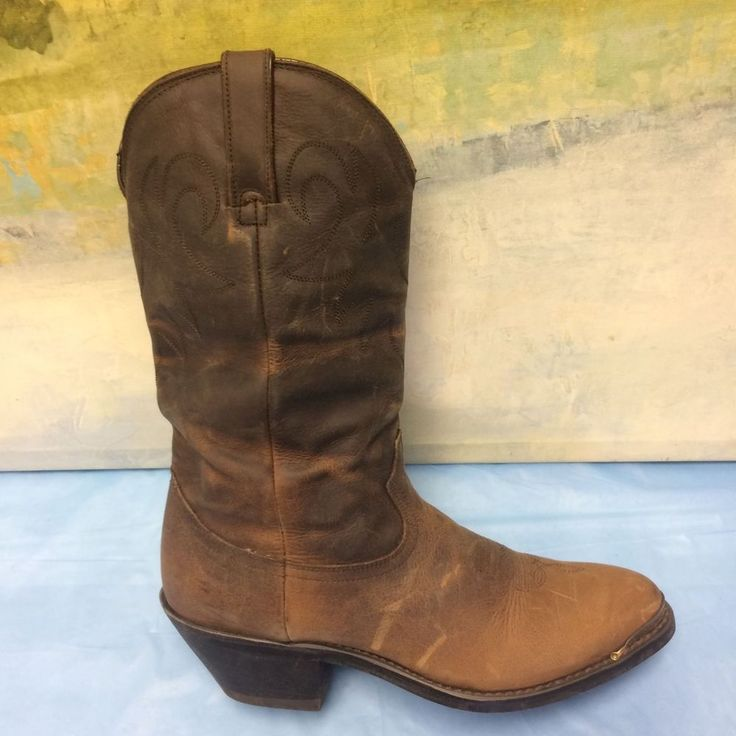 DURANGO WOMENS COWBOY LEATHER DARK BROWN BOOTS SIZE 7 M #DURANGO #CowboyWestern