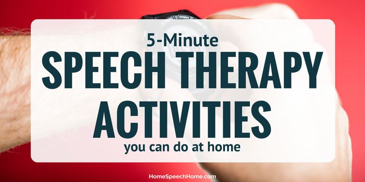 Twenty 5-Minute Speech Therapy Activities You Can Do at Home from Home Speech Home. Pinned by SOS Inc. Resources. Follow all our boards at pinterest.com/sostherapy/ for therapy resources.