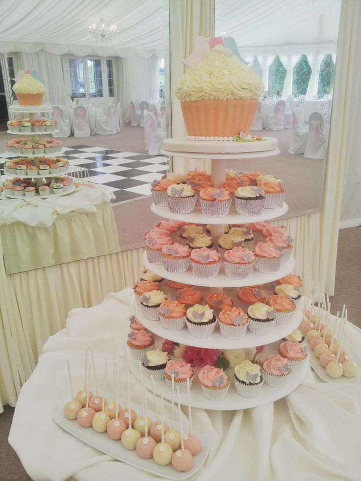 Cupcake wedding cake at Clonabreany House
