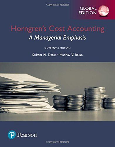 cost accounting horngren cap 7 Download free ebooks at bookbooncom managerial and cost accounting 7 contents 16 job costing in service, not for-pro Þ t, and governmental environments.