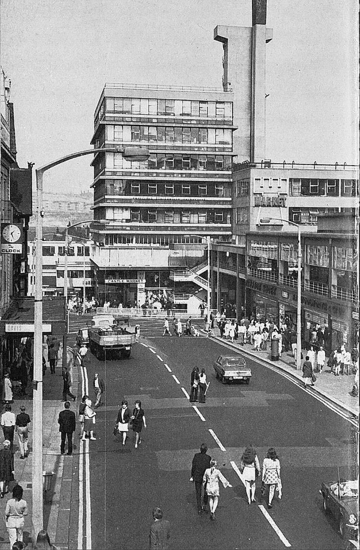 haymarket / castle market, sheffield  early-mid 1970s
