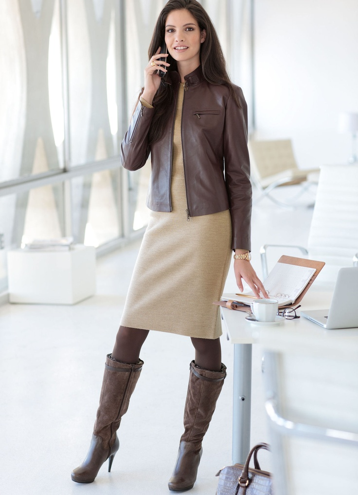 Jacket in brown nappa leather by Elégance