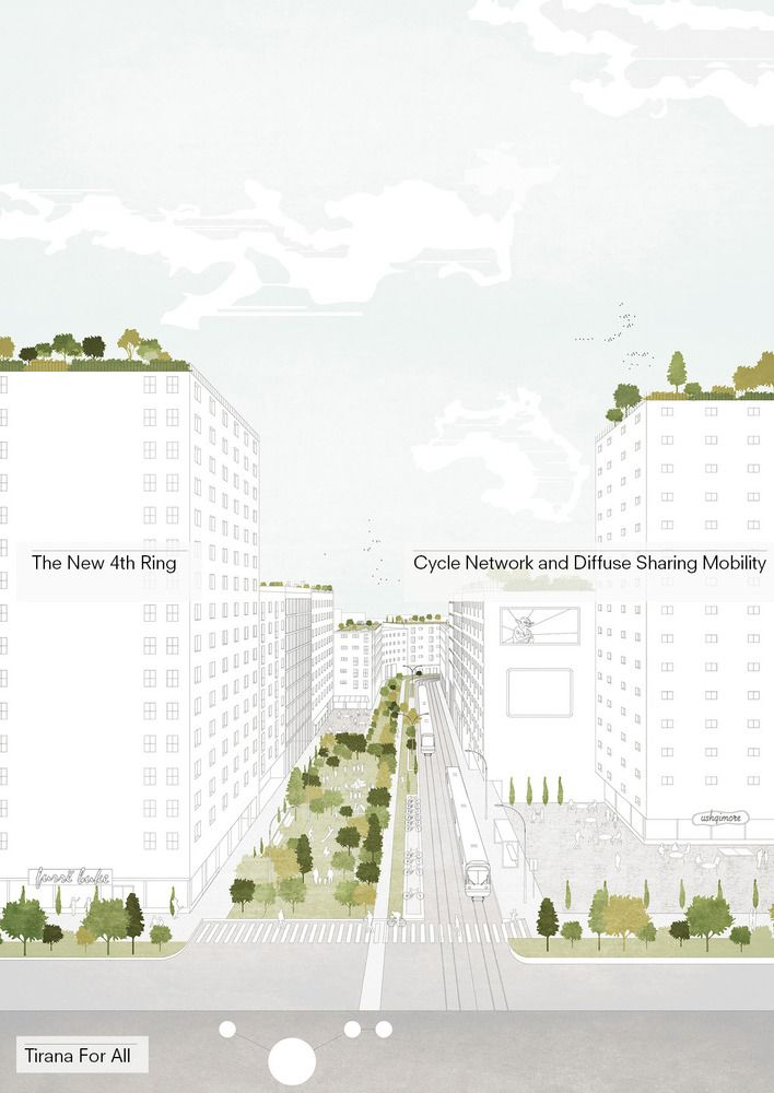 Gallery of Tirana 2030: Watch How Nature and Urbanism Will Co-Exist in the Albanian Capital - 17
