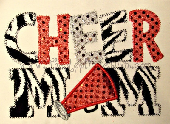Cheer Mom Embroidery Design Machine Applique by theappliquediva, $2.99
