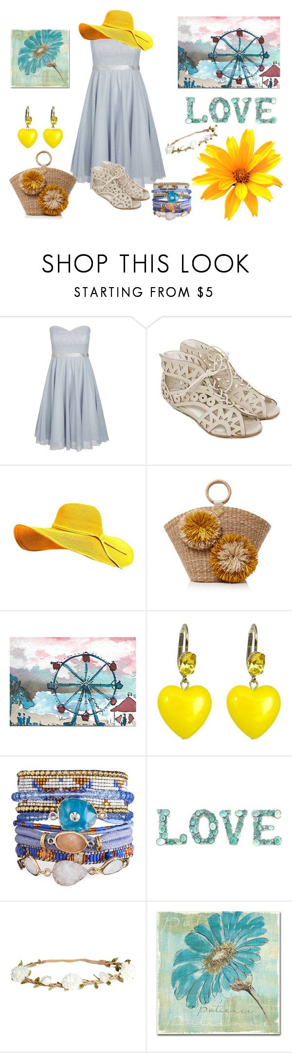 """Yellow & Blue"" by fashion2religion ❤ liked on Polyvore featuring City Chic, Aranáz, Tarina Tarantino, H&M, Trademark Fine Art, Summer, yellow, Blue and plus size dresses"